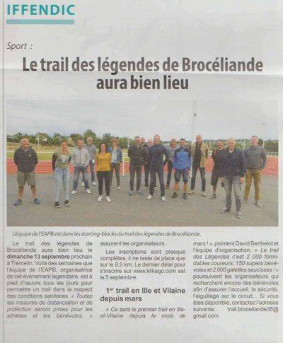 article Hebdo Armor Trail des Légendes de Brocéliande